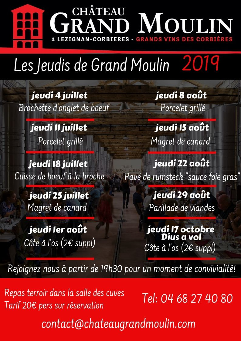 Les jeudis de Grand Moulin 2019
